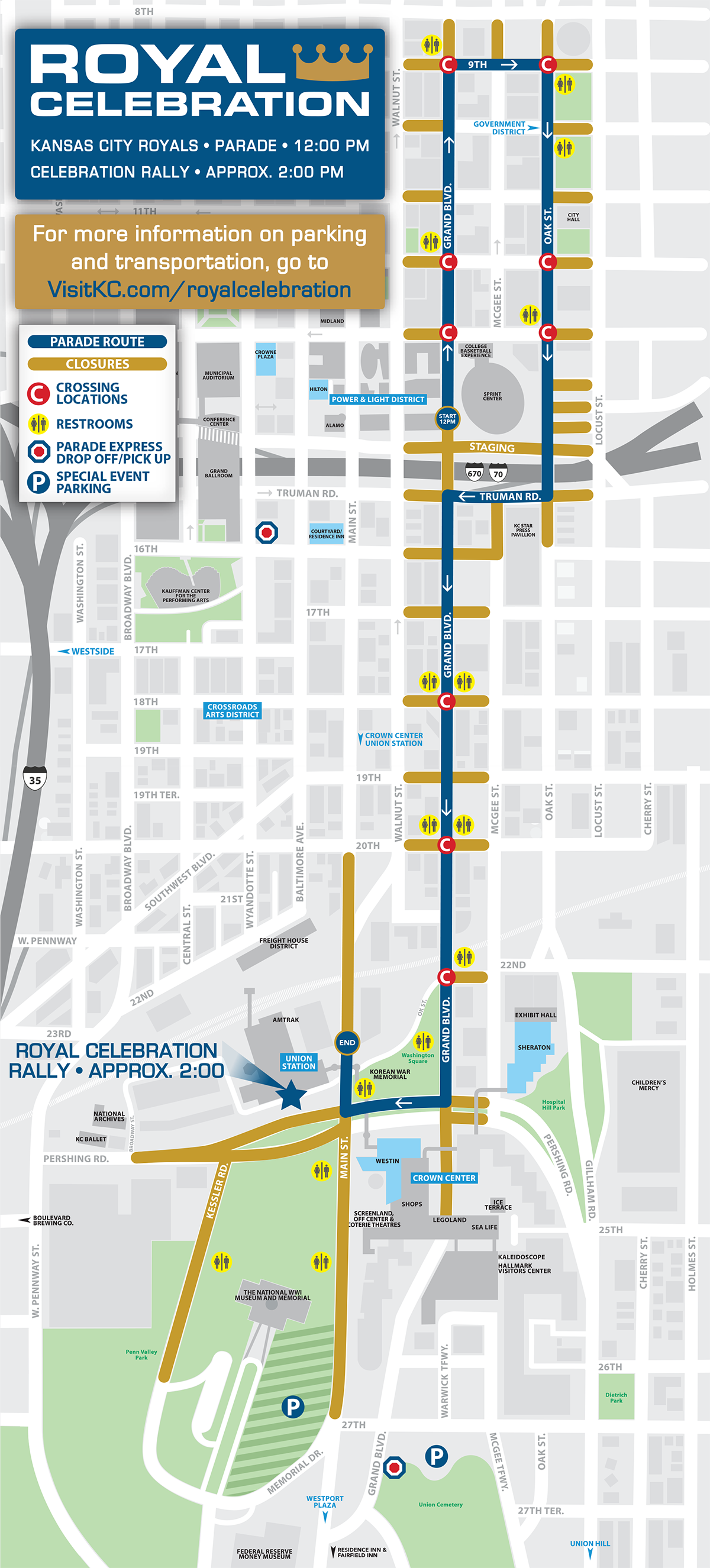 Royal Celebration Parade Route