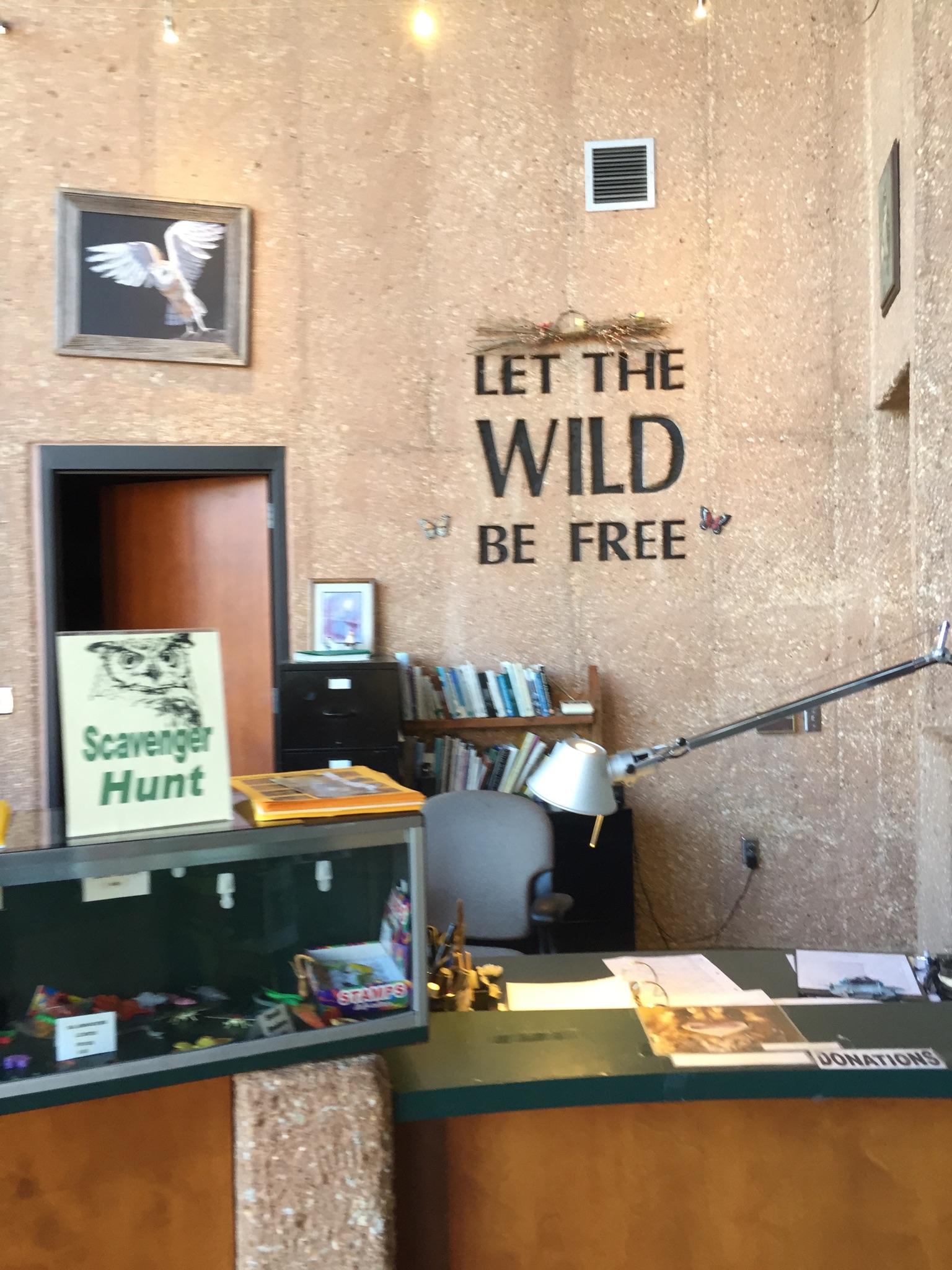Lakeside Nature Center desk