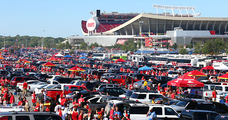 Black Car Service to a Tailgate party at Arrowhead