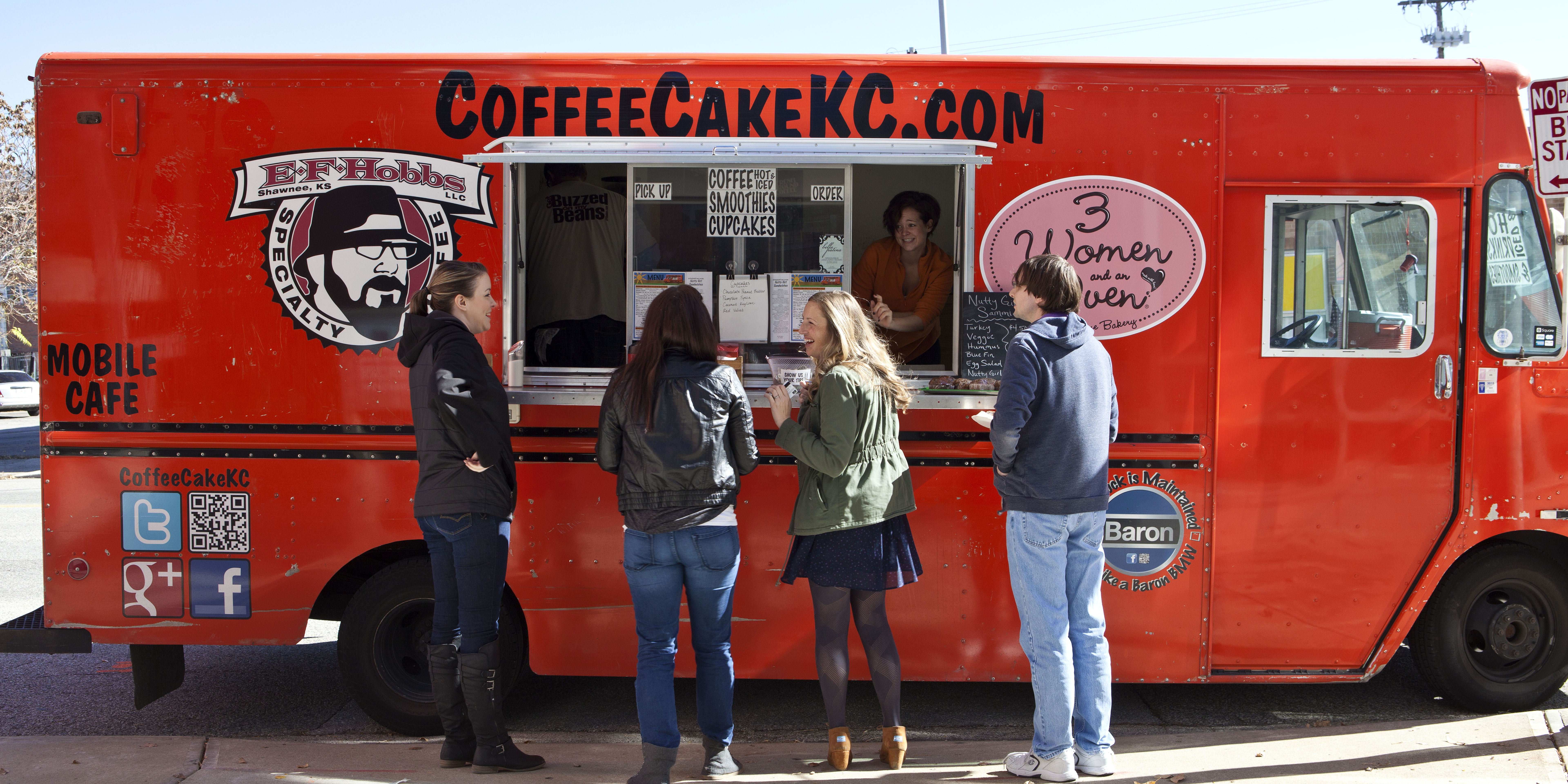 CoffeeCakeKC coffee and dessert shop on wheels.