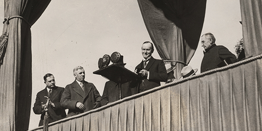 President Coolidge at the 1926 Liberty Memorial Dedication