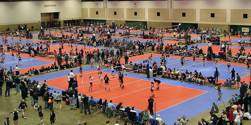 Bartle Hall - KC Convention Center - Volleyball Tournament