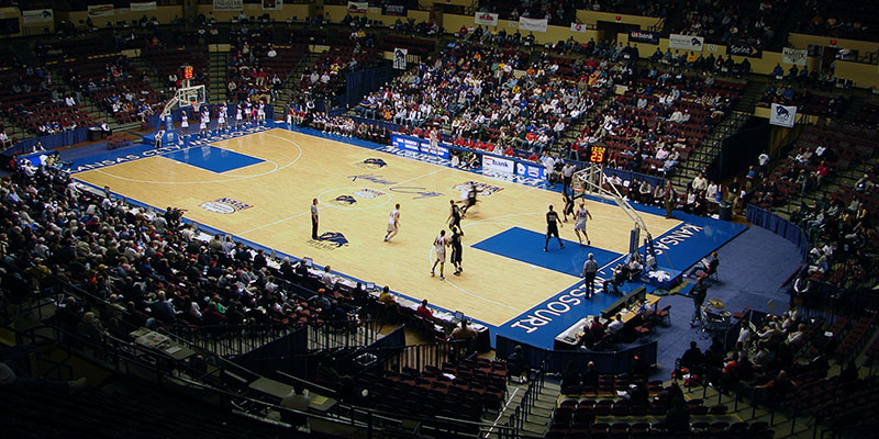 Municipal Auditorium Arena - Basketball Setup
