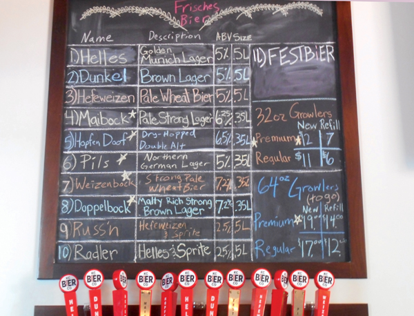 KC Bier Co Menu