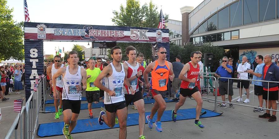 Runners at the Firecracker Flight 5K/10K