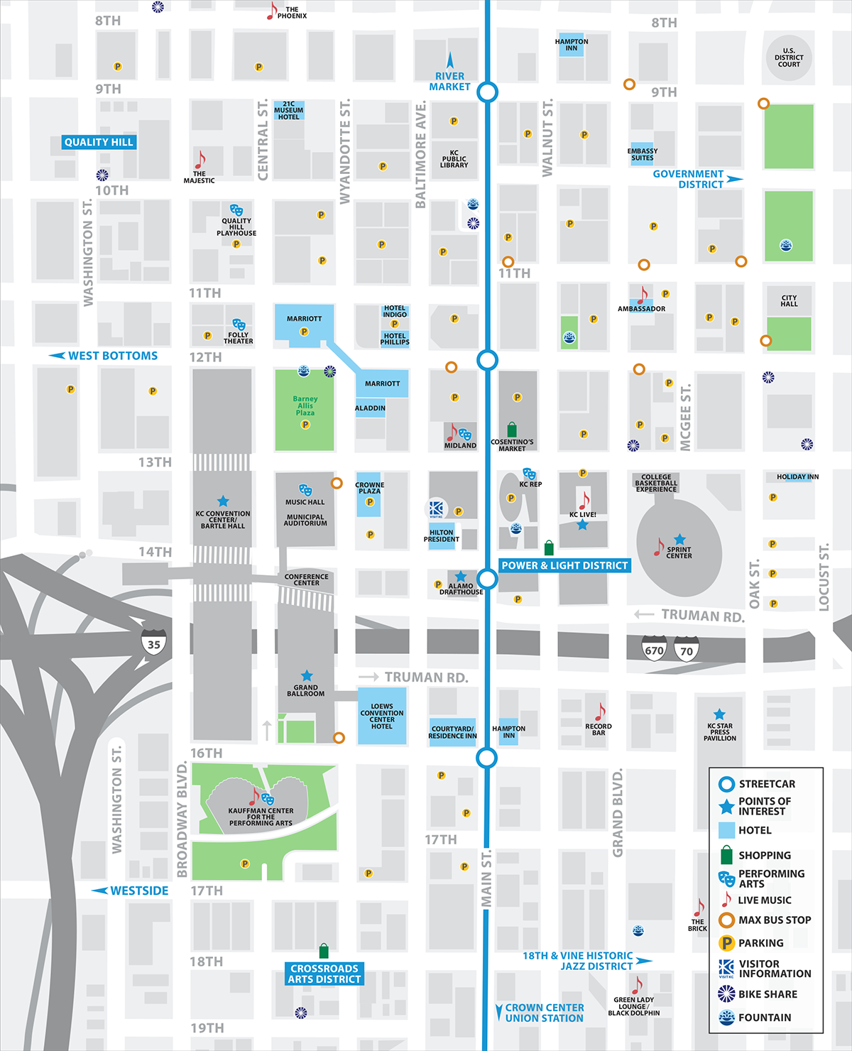 Downtown Kansas City Map | Visit KC