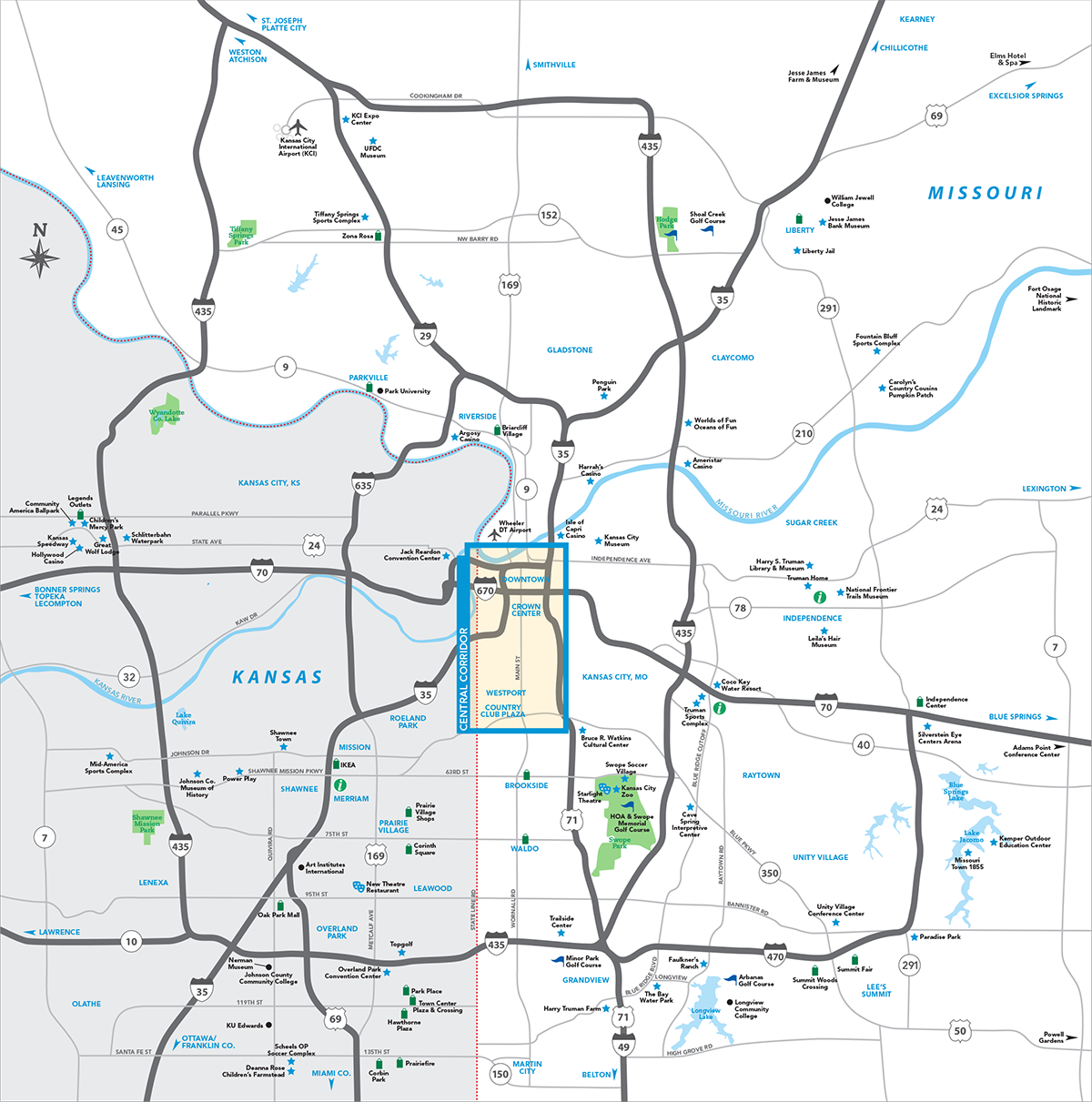 Map Of Kansas City Kansas City Metro Map | Visit KC Map Of Kansas City
