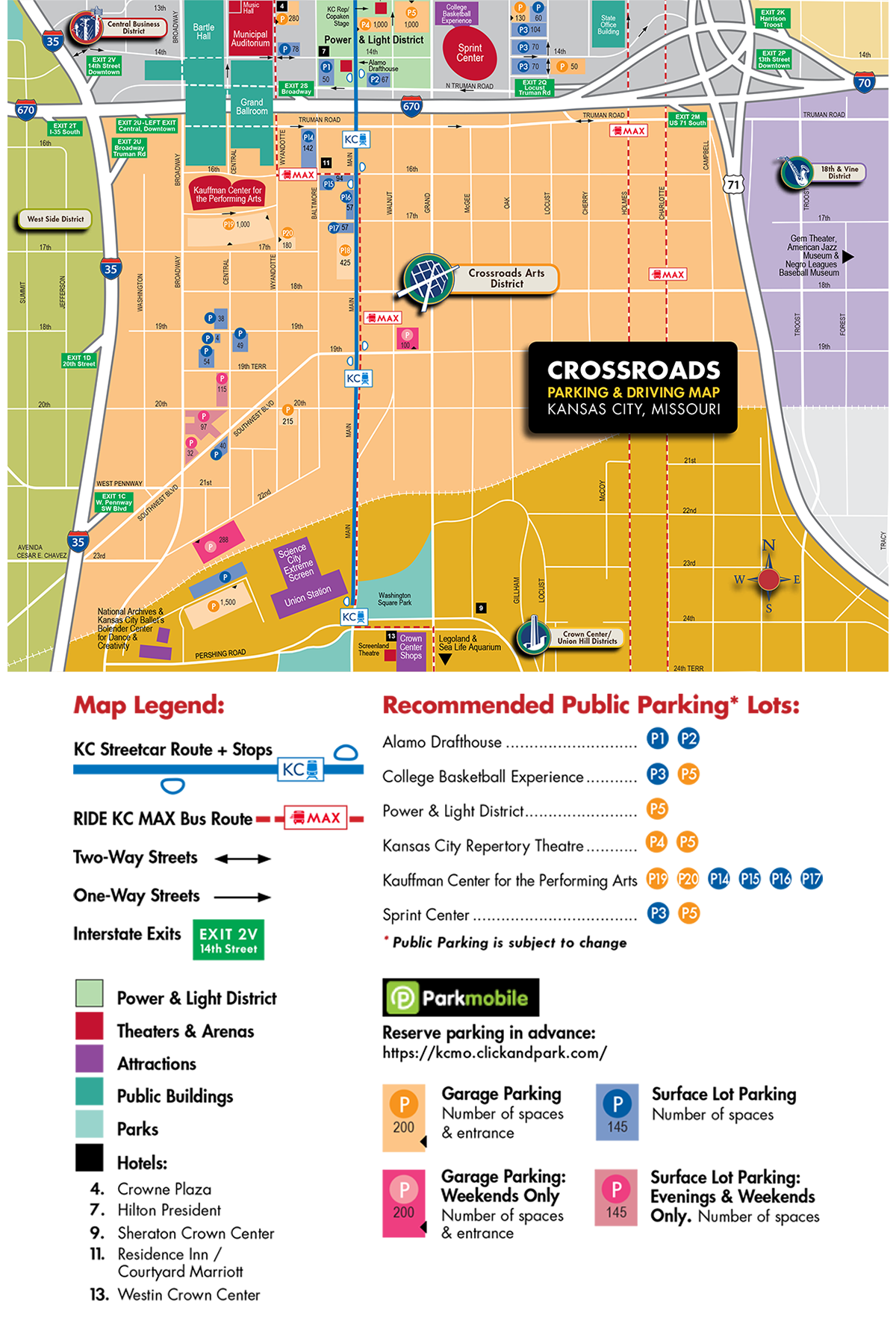Crossroads District Parking Map Visit KC