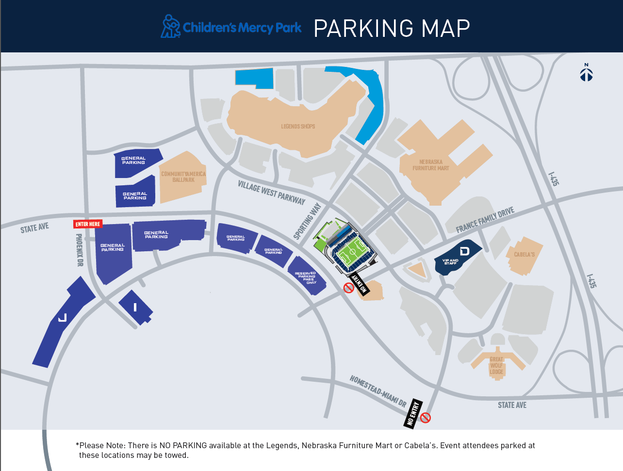 NCAA DII Football Championship Parking Map