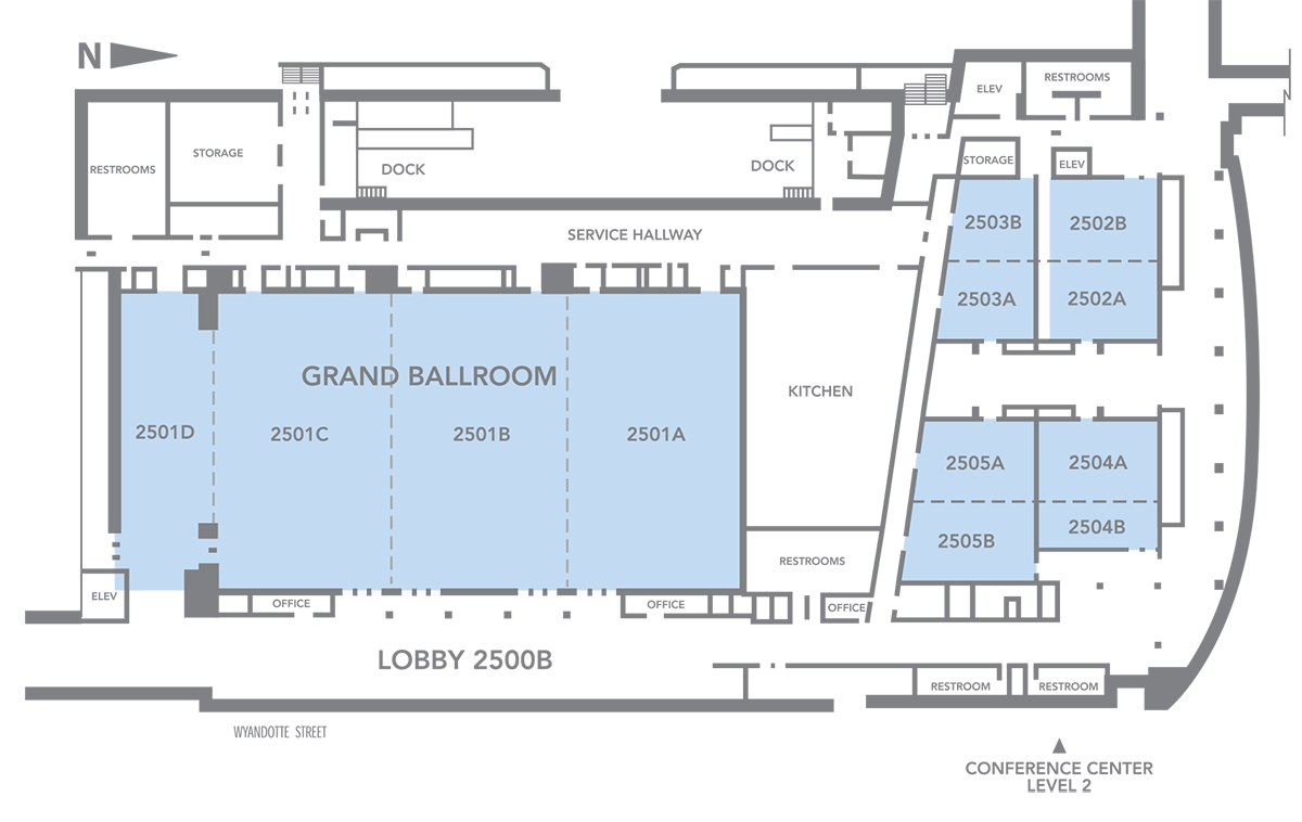 Kansas City Convention Center Grand Ballroom Diagram