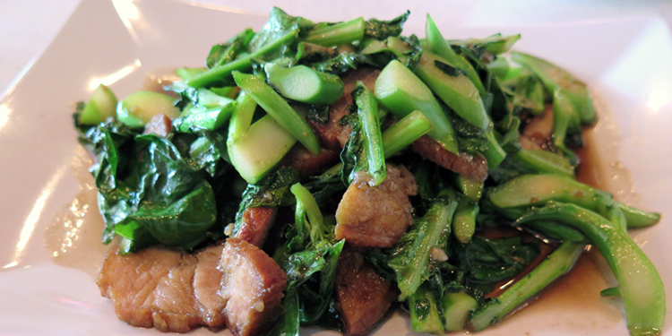Koko Thai broccoli caramelized pork belly