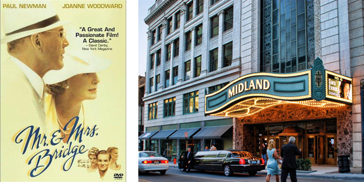 Mr. & Mrs. Bridge filmed at Midland Theatre
