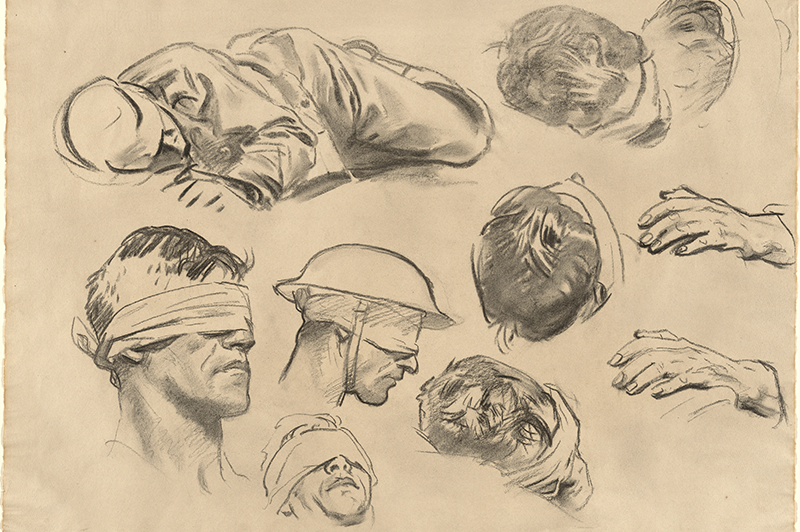 A study drawing of John Singer Sargent's Gassed