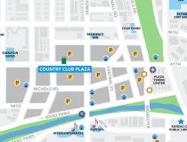 "graphic relating to Printable Map of Kansas identified as Kansas Metropolis Maps - Check out â""¢ - Downtown, Metro, Plaza"
