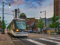 Power & Light District Stop on KC Streetcar