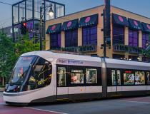 Power & Light District Stop on KC Streetcar