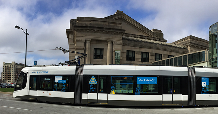 Union Station Stop on the KC Streetcar