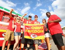 Fans Tailgating at Arrowhead Stadium