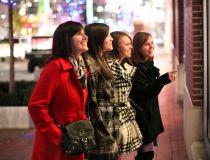 Ladies shopping in Power & Light District Kansas City, MO