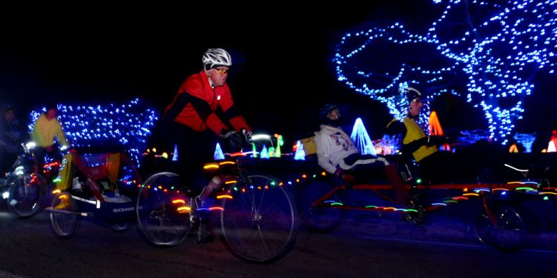 Trip The Light Fantastic Magical Bike Ride Thru Christmas In The