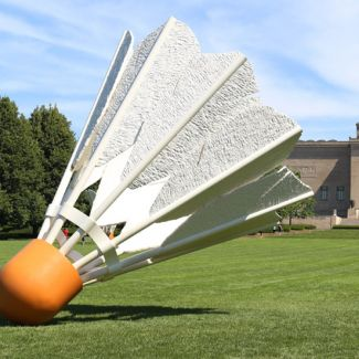 lawn art at nelson-artkins museum