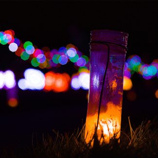 Luminary Walk Lights at Overland Park