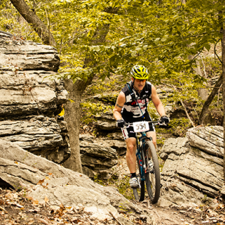 Bike Trails at Swope Park in Kansas City