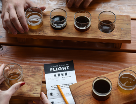 Tasting Flight at Boulevard Brewing Co. in Kansas City