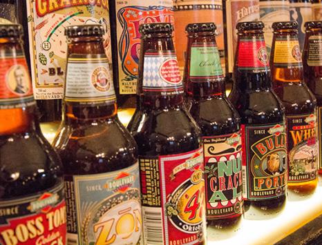 Tasting Flight at Boulevard Brewing Co. in Kansas City