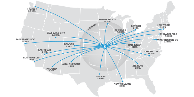 Getting around kansas city visit kc kansas city points of us flight map sciox Image collections