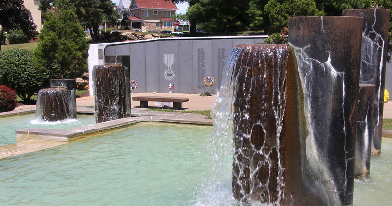 Vietnam Veterans Memorial Fountain in Westport Kansas City