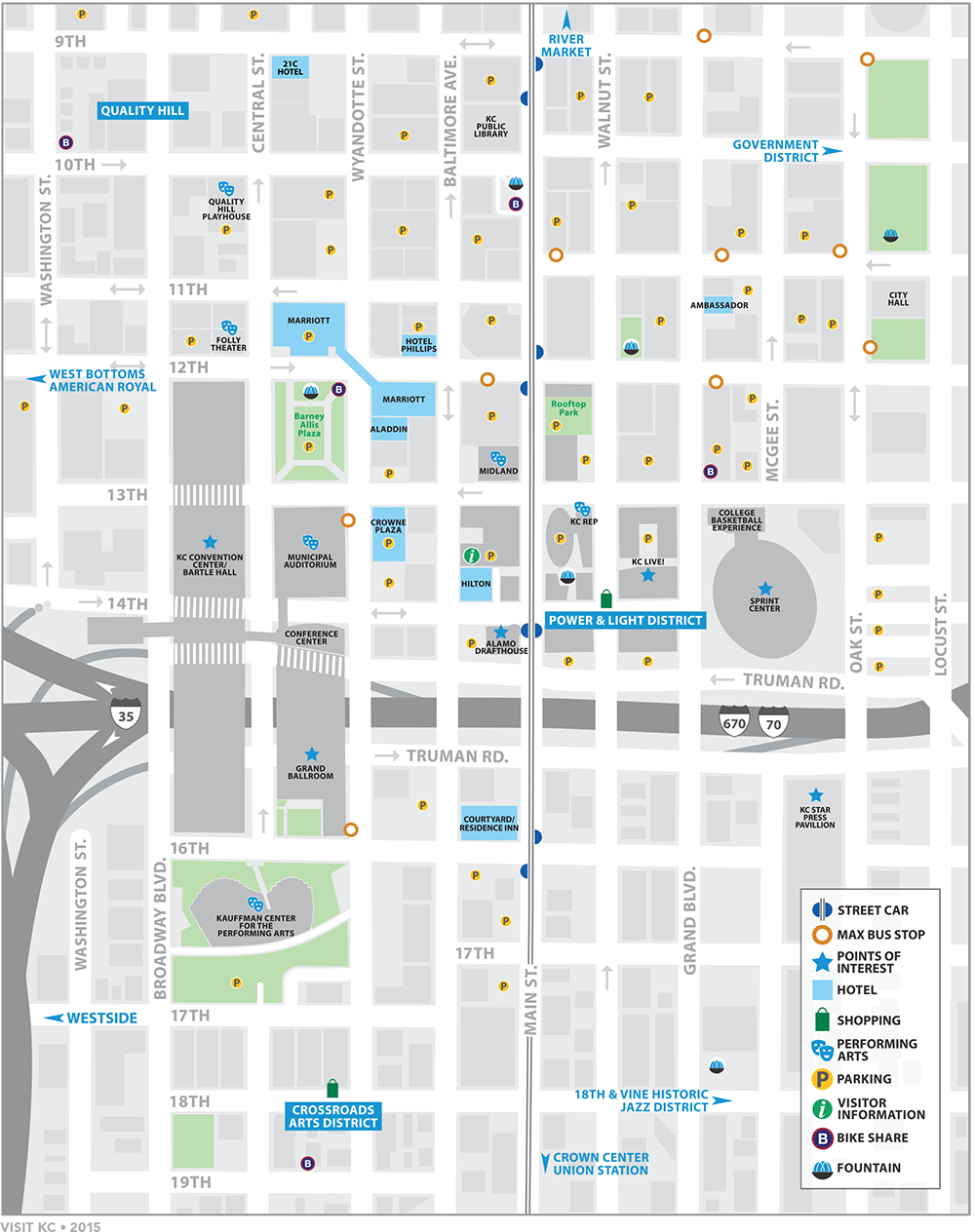 Downtown Map  Visit KC