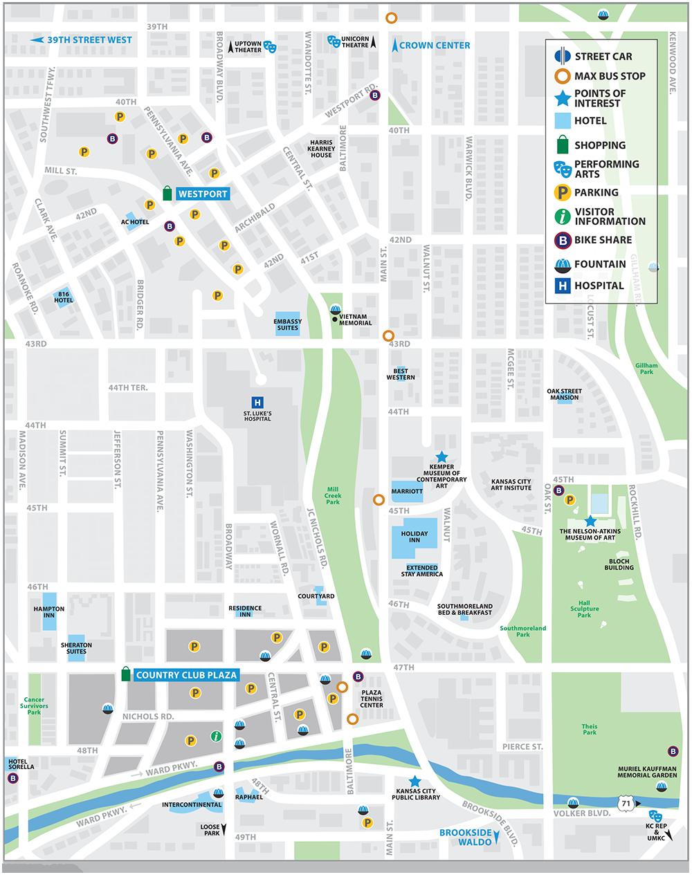 WestportPlaza Map Visit KC - Kansas city in us map