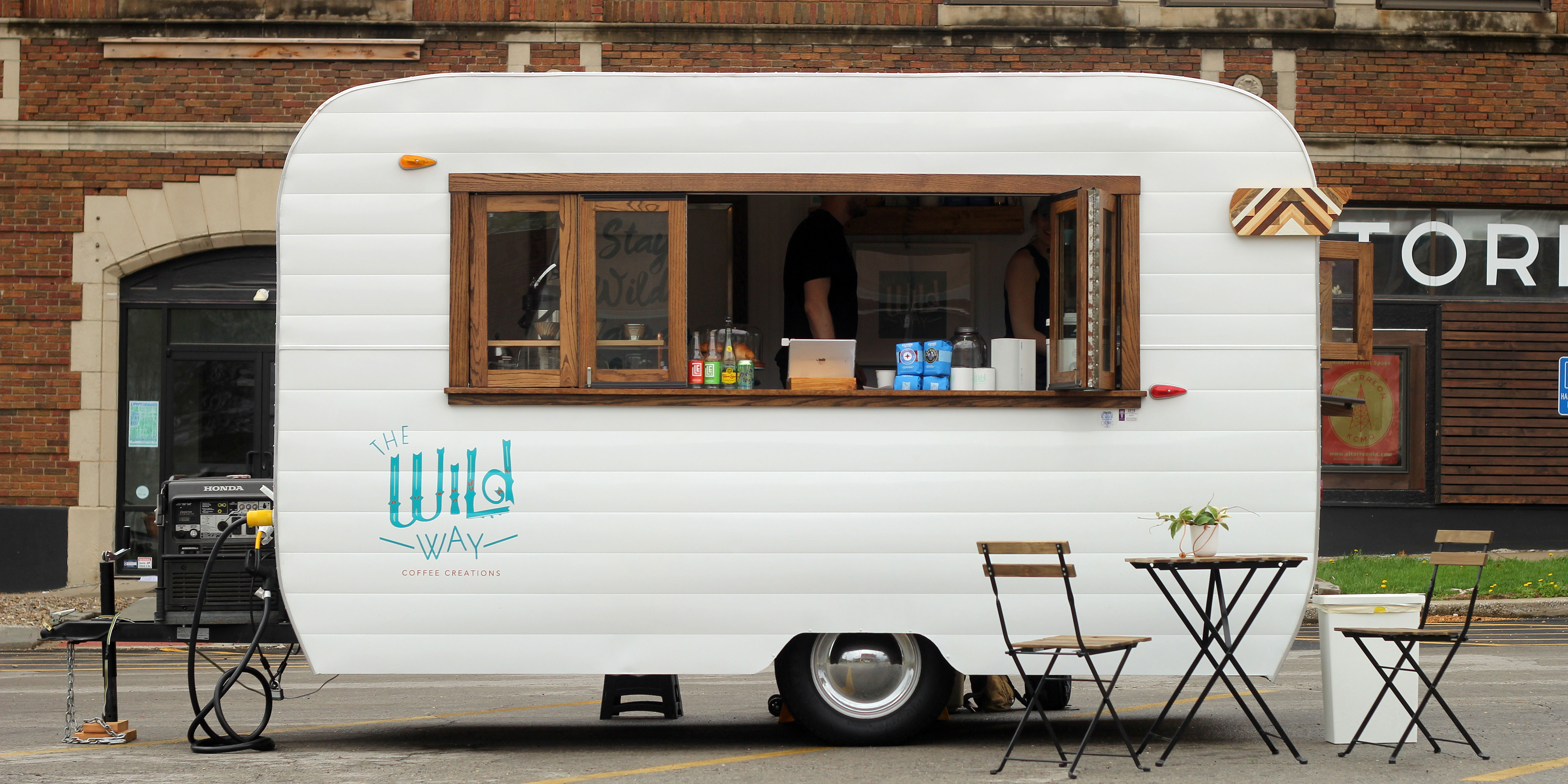 The Wild Way Coffee Camper located on E. 31st Gillham Plaza by El Torreon
